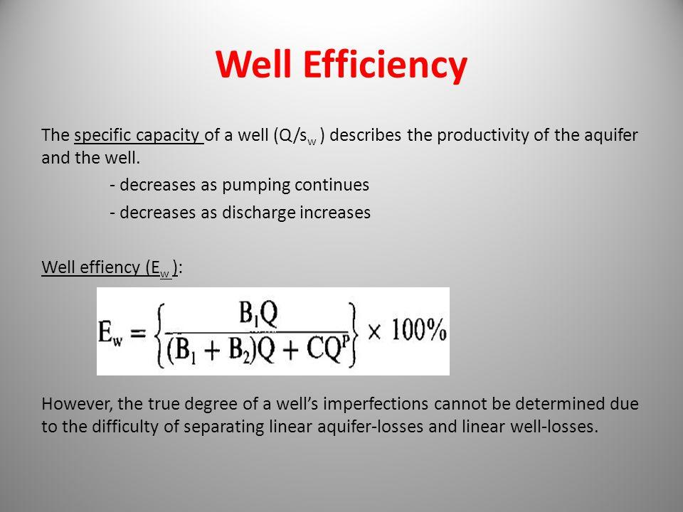 Well Efficiency