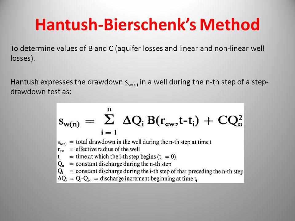 Hantush-Bierschenk's Method