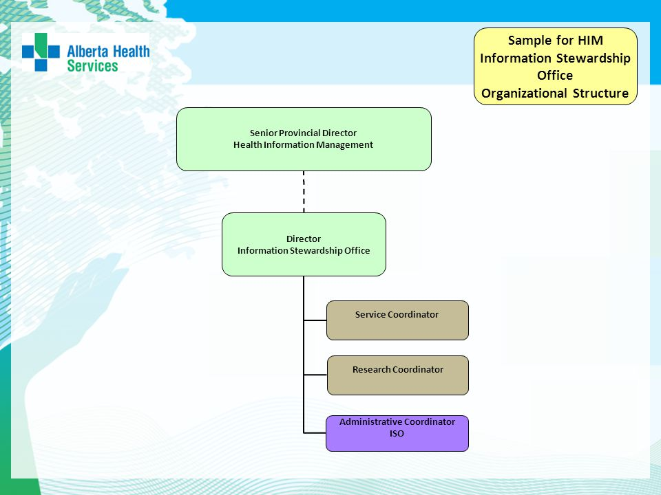 Sample for HIM Information Stewardship Office Organizational Structure