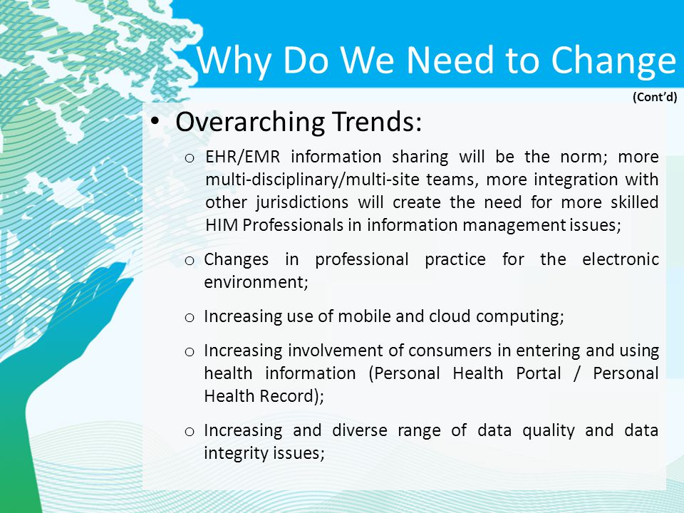 Why Do We Need to Change Overarching Trends: