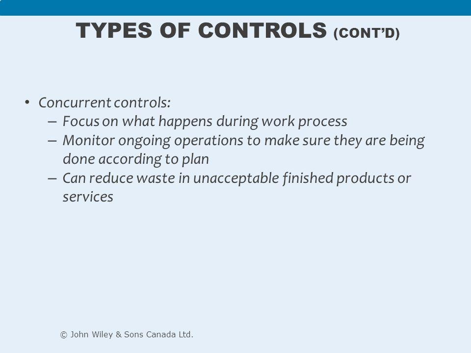 Types of Controls (cont'd)