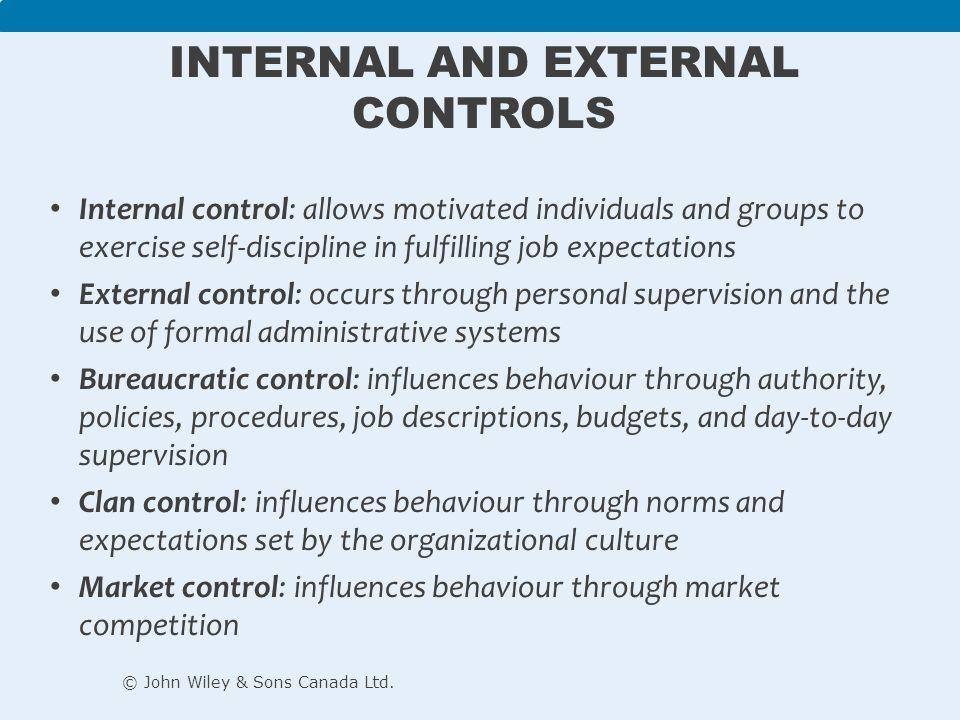 Internal and External Controls