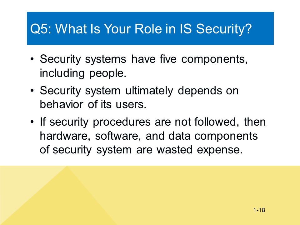 Q5: What Is Your Role in IS Security