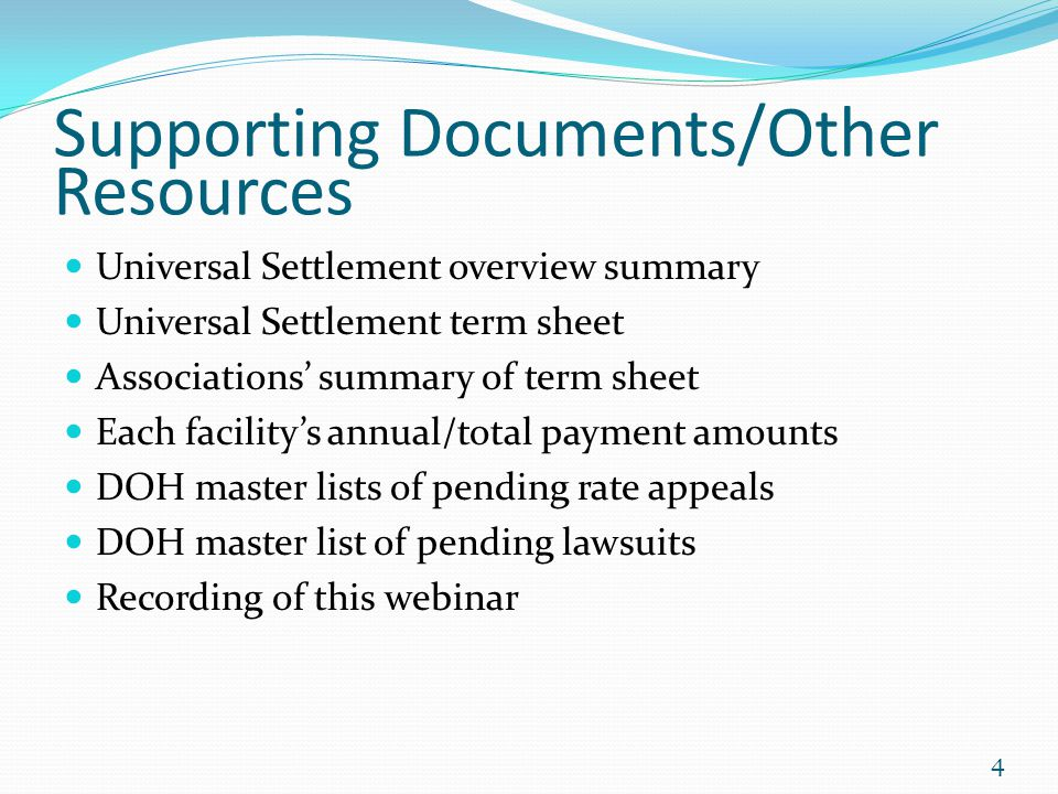 Supporting Documents/Other Resources