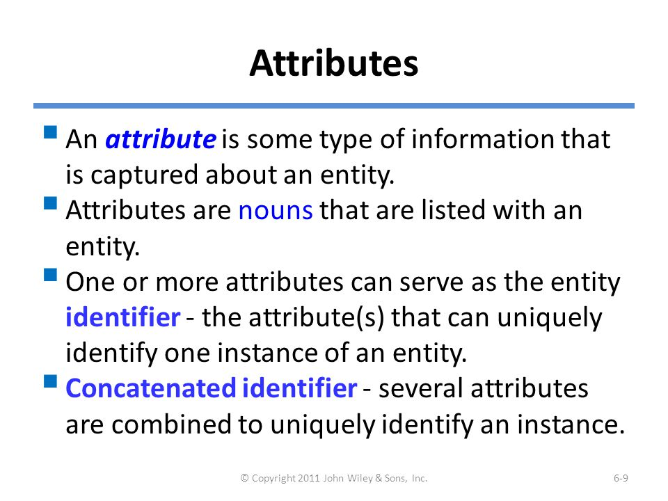 Choices for Identifiers
