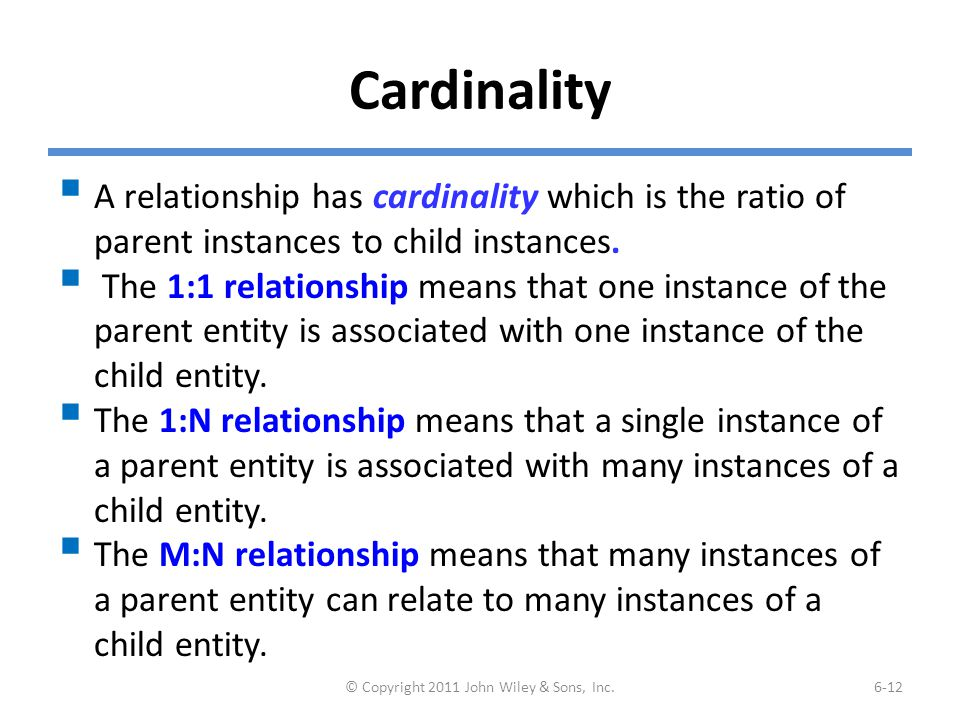 (cont'd) Example of M:N Relationship