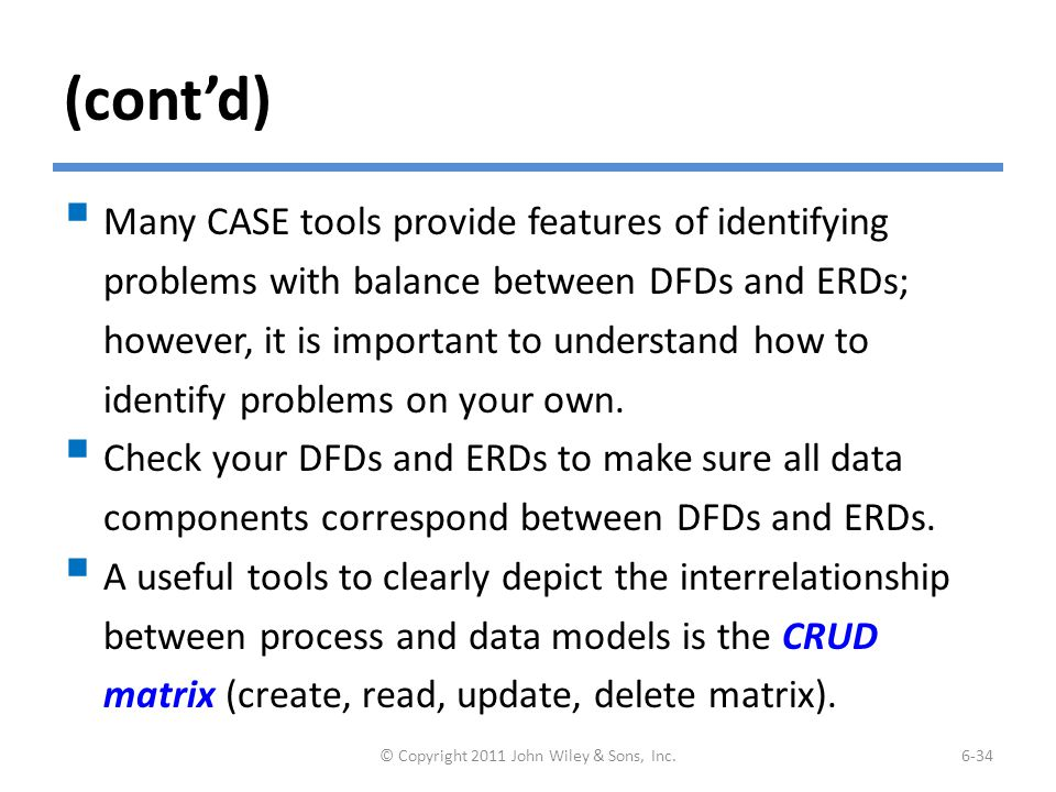 A Portion of a DFD and the CRUD Matrix