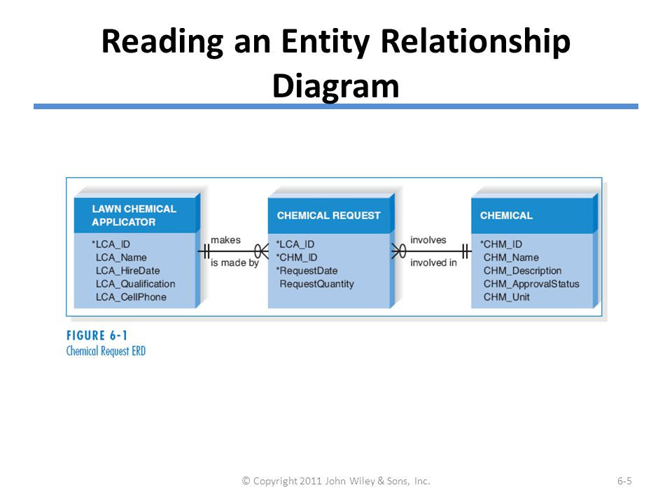 Elements of an Entity Relationship Diagram