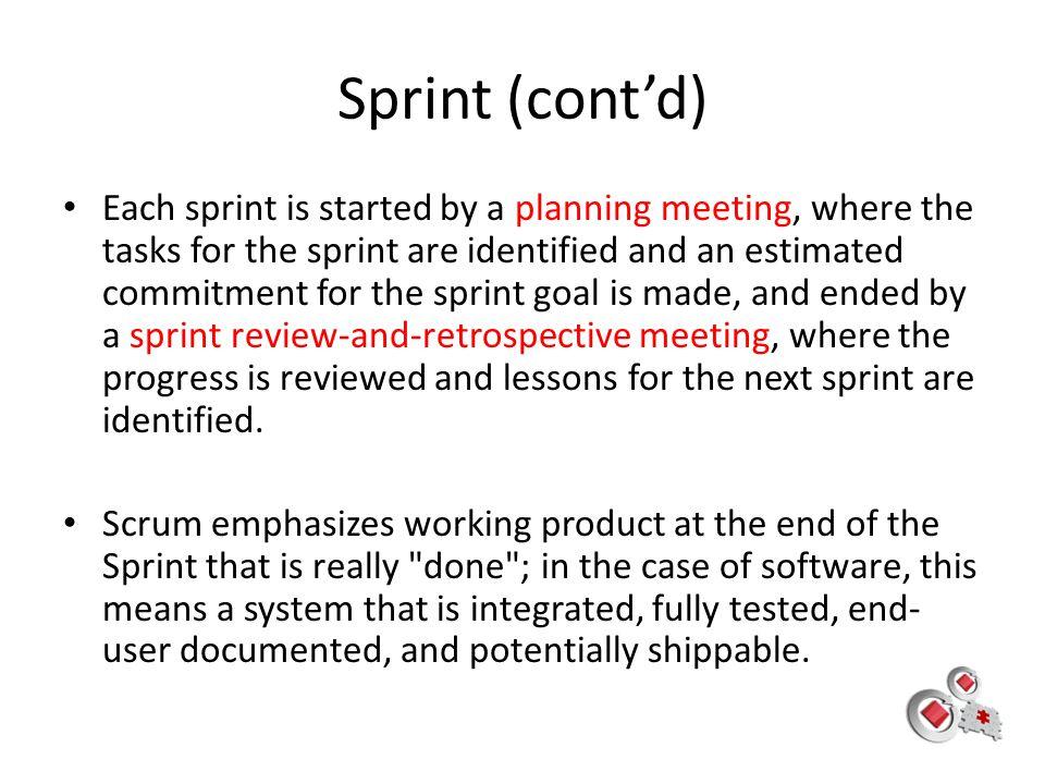 Sprint (cont'd)