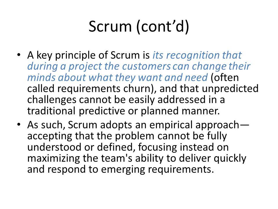Scrum (cont'd)