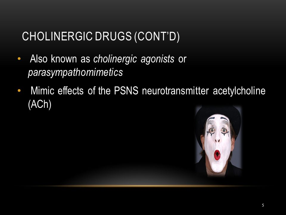 Cholinergic Drugs (cont'd)
