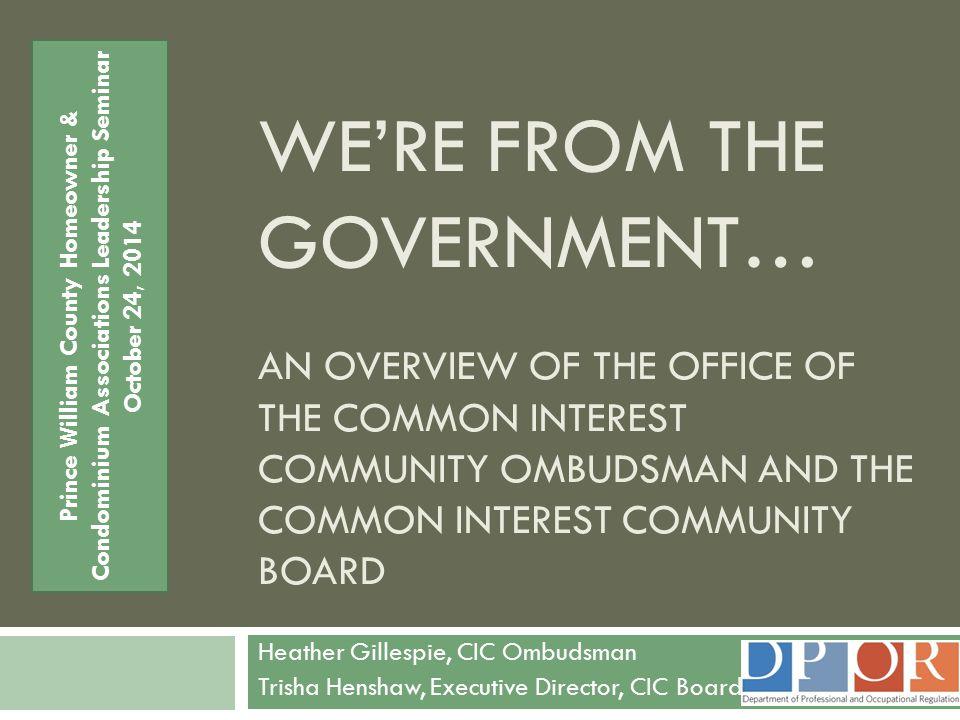 Prince William County Homeowner & Condominium Associations Leadership Seminar
