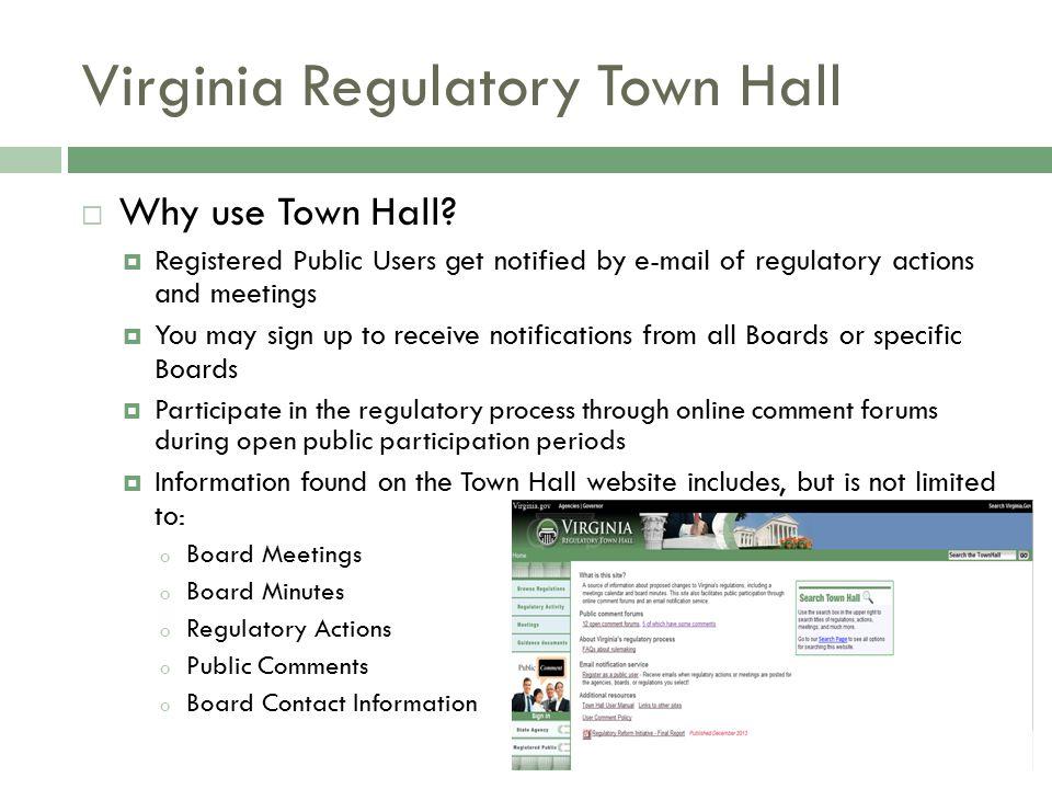 Virginia Regulatory Town Hall