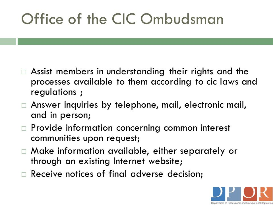 Office of the CIC Ombudsman