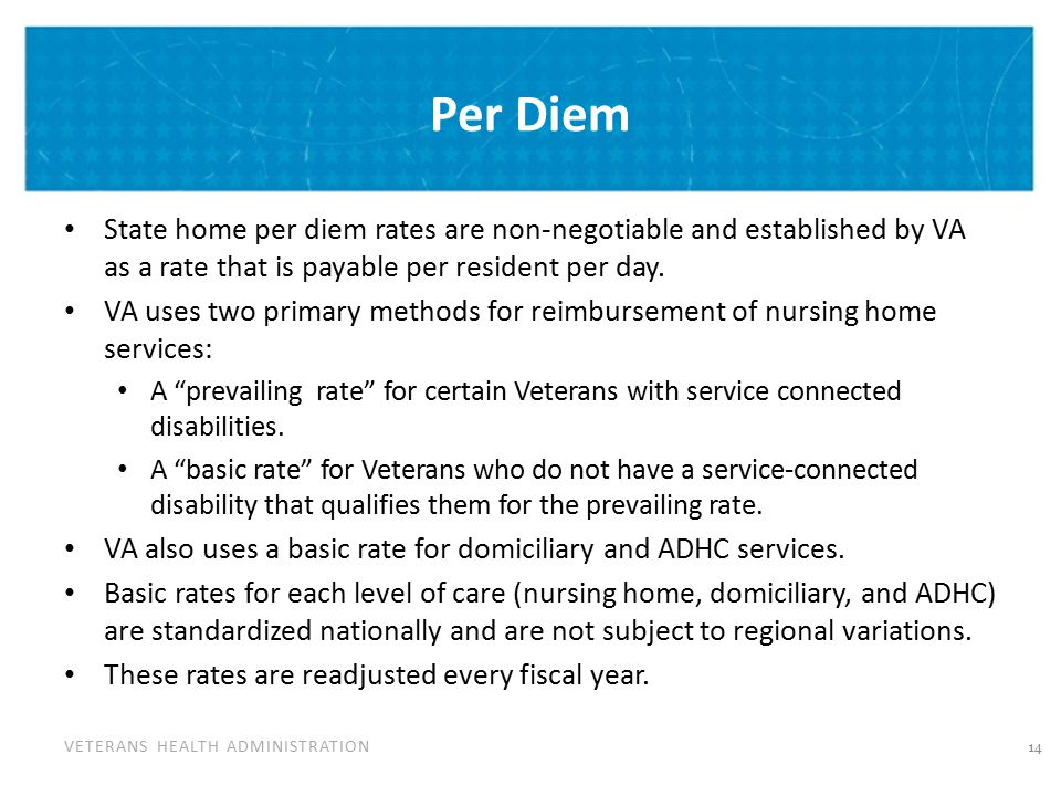Per Diem Cont'd The FY 2013 rates were released in October 2012.