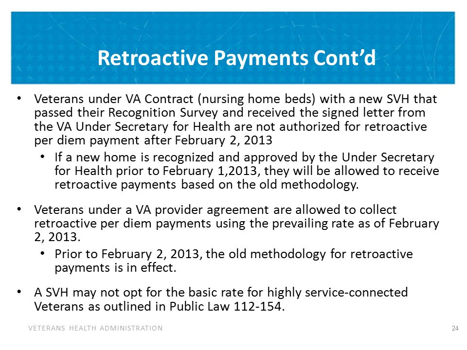 Draft 10-5588A (Retro Payment) Under OMB Review