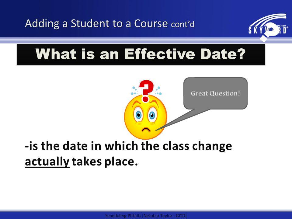 What is an Effective Date