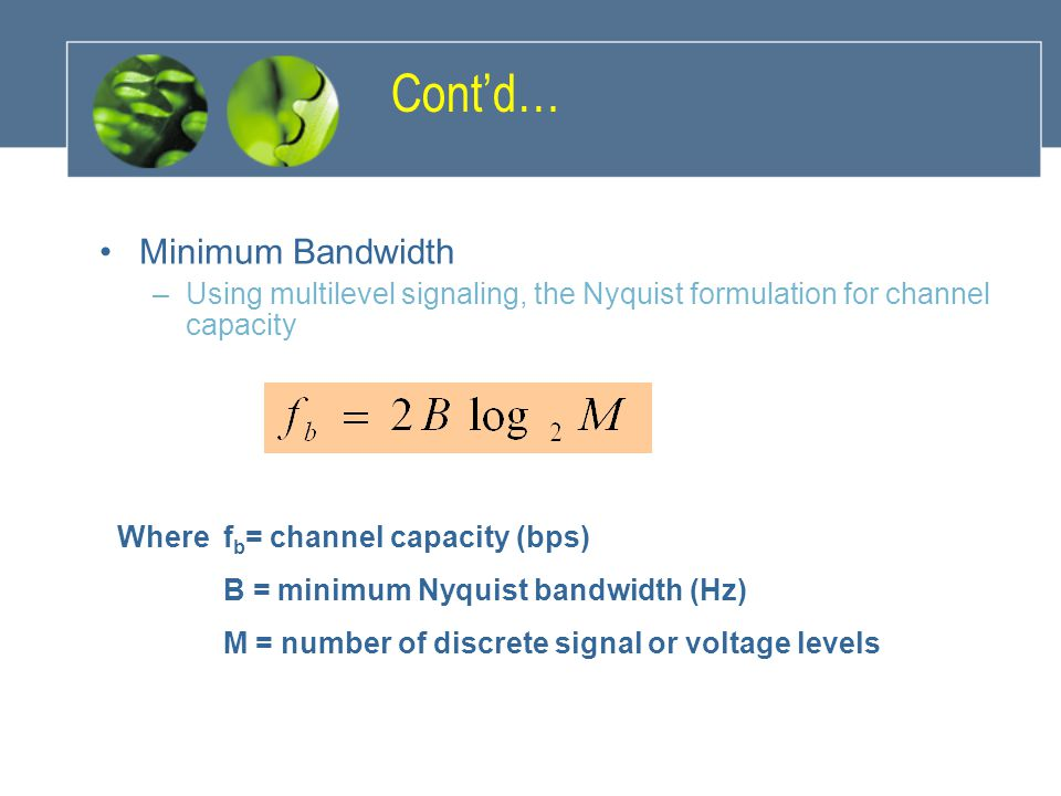 Cont'd… Minimum Bandwidth