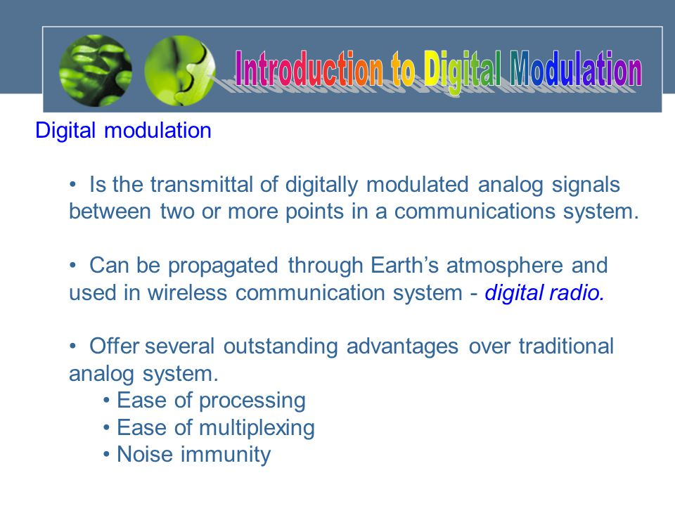 Introduction to Digital Modulation
