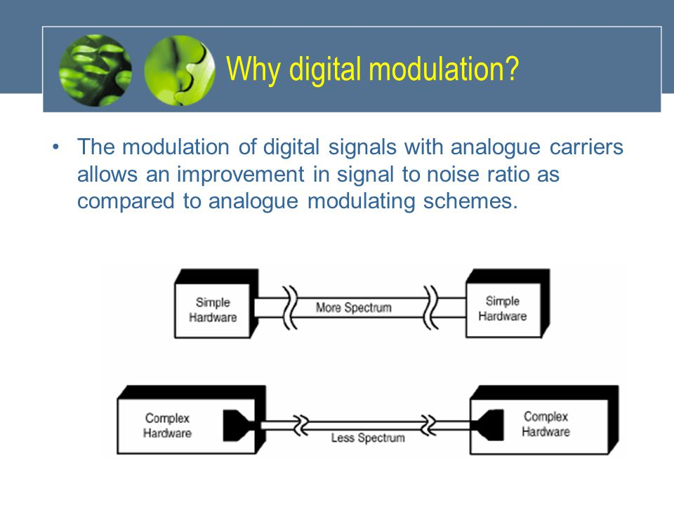 Why digital modulation