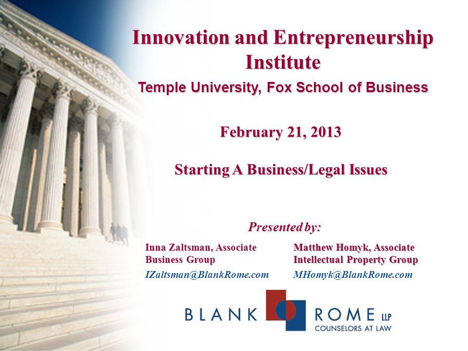 Innovation and Entrepreneurship Institute