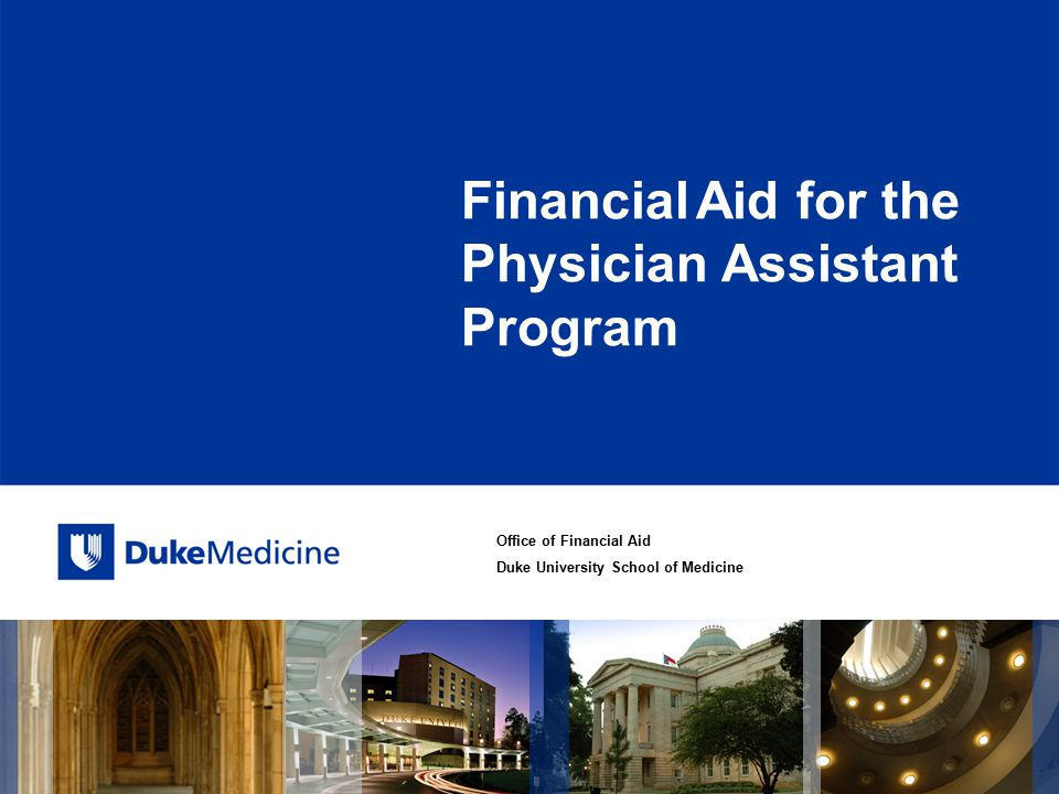 Financial Aid for the Physician Assistant Program