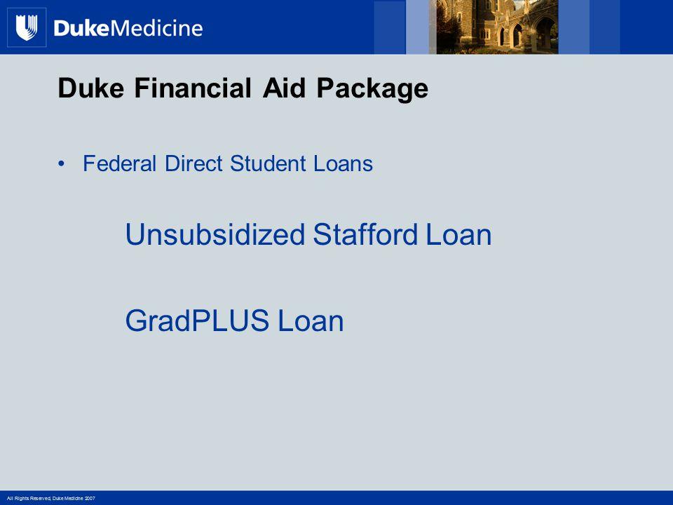 Duke Financial Aid Package