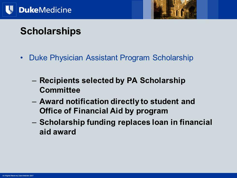 Scholarships Duke Physician Assistant Program Scholarship