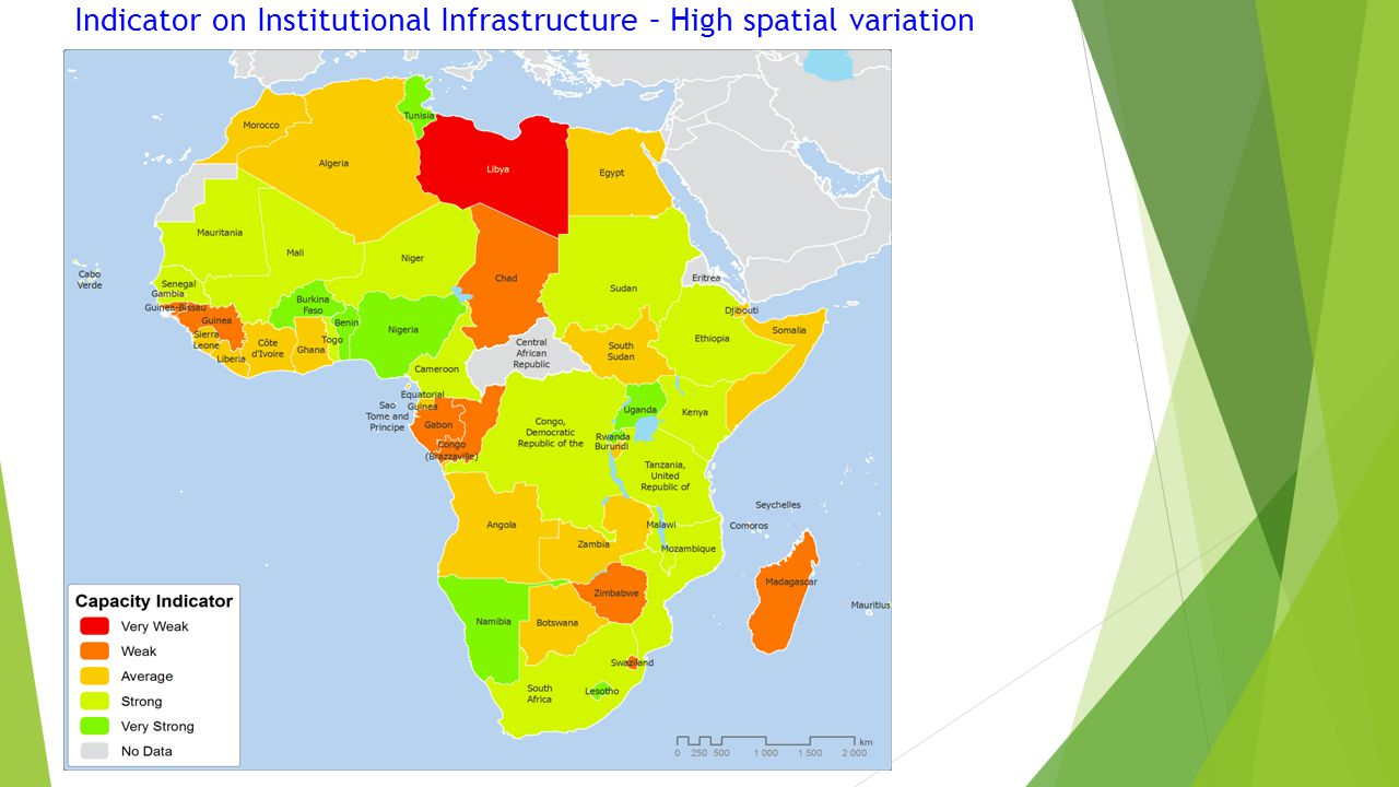 Indicator on Institutional Infrastructure – High spatial variation