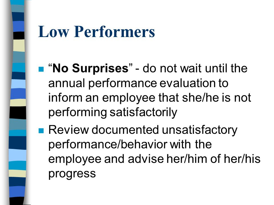 Low Performers