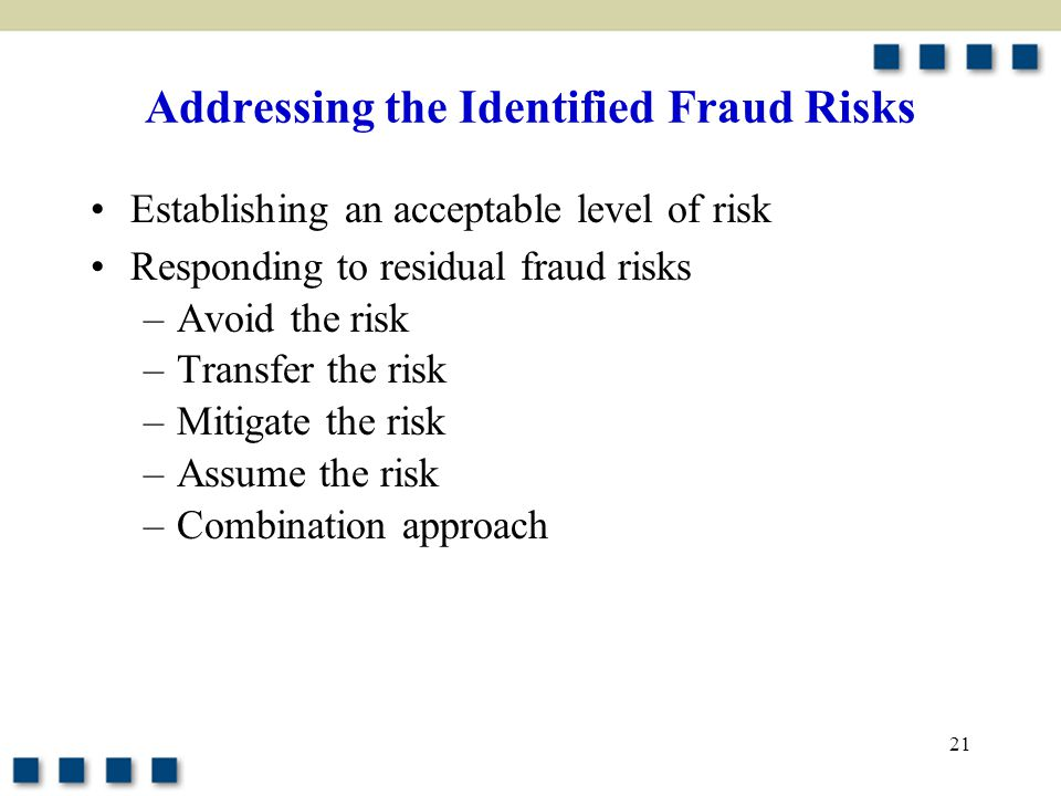 Addressing the Identified Fraud Risks