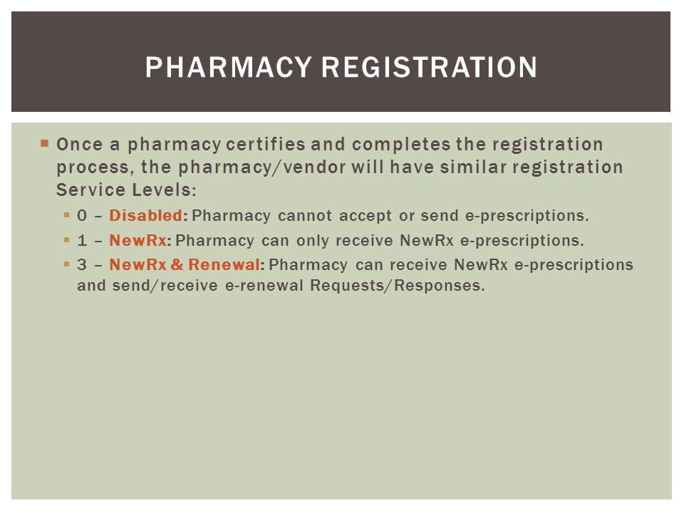 Pharmacy Registration