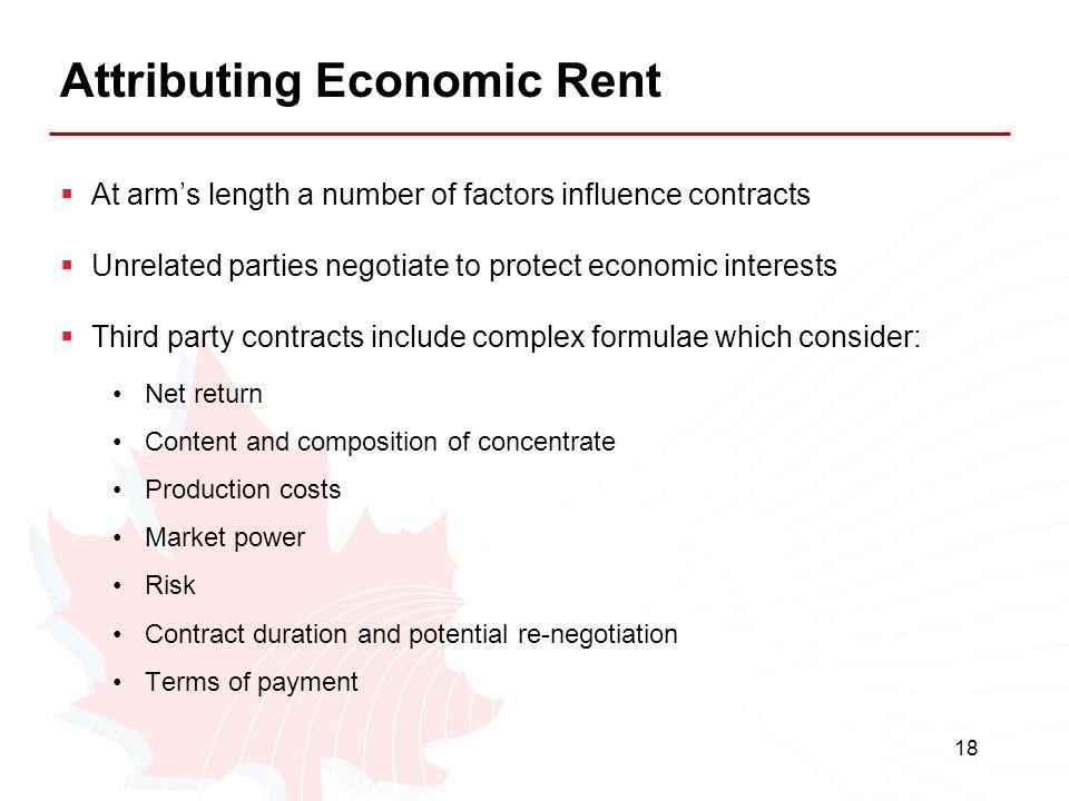 Attributing Economic Rent