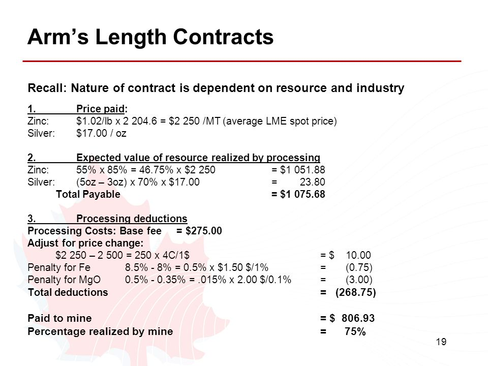Arm's Length Contracts