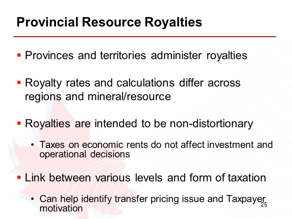 Provincial Resource Royalties