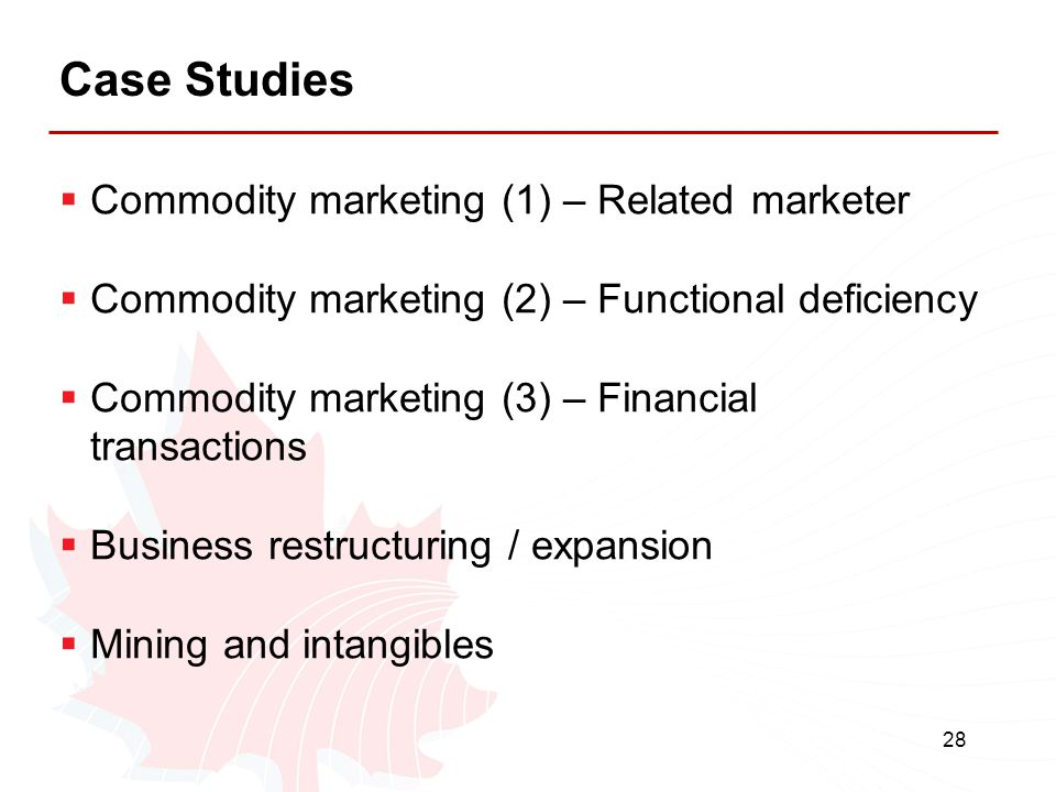 Case Studies Commodity marketing (1) – Related marketer