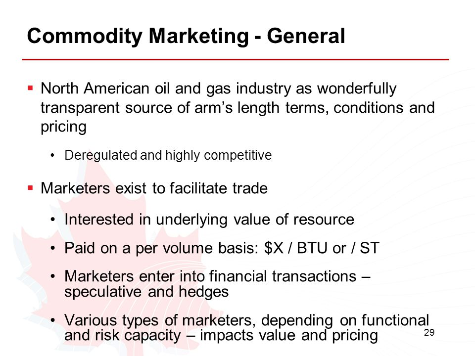Commodity Marketing - General