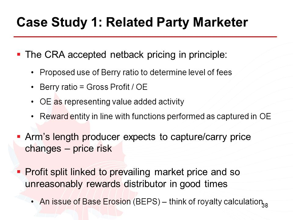 Case Study 1: Related Party Marketer