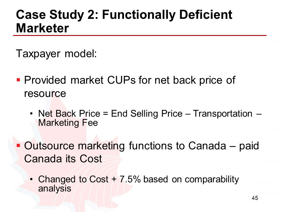 Case Study 2: Functionally Deficient Marketer