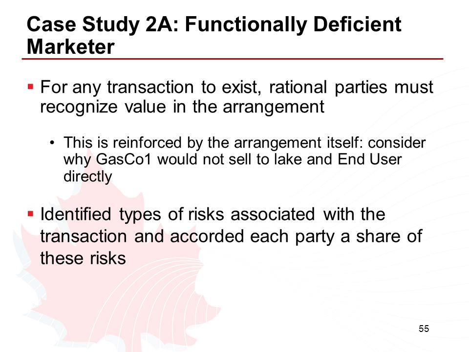 Case Study 2A: Functionally Deficient Marketer