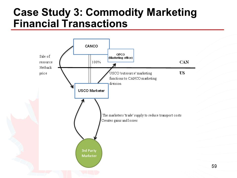 Case Study 3: Commodity Marketing Financial Transactions