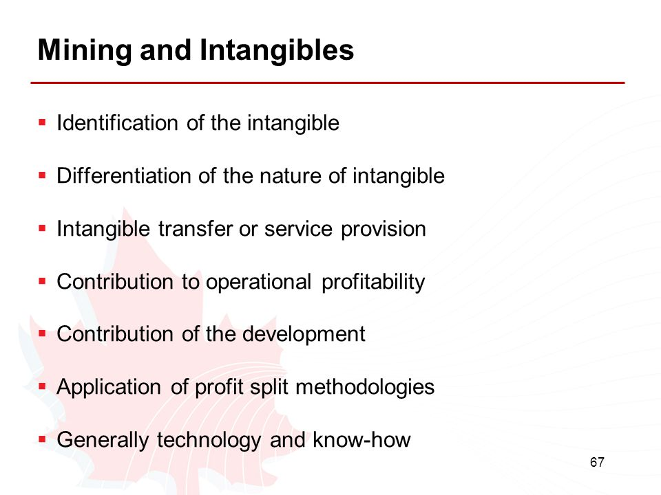 Mining and Intangibles
