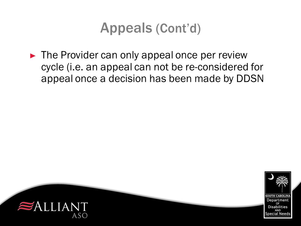 Appeals (Cont'd)