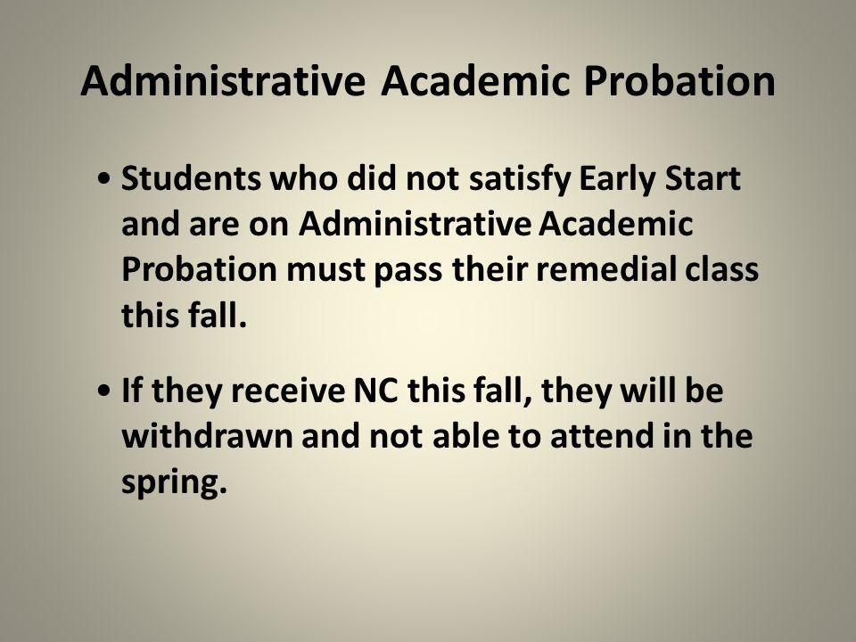 Administrative Academic Probation