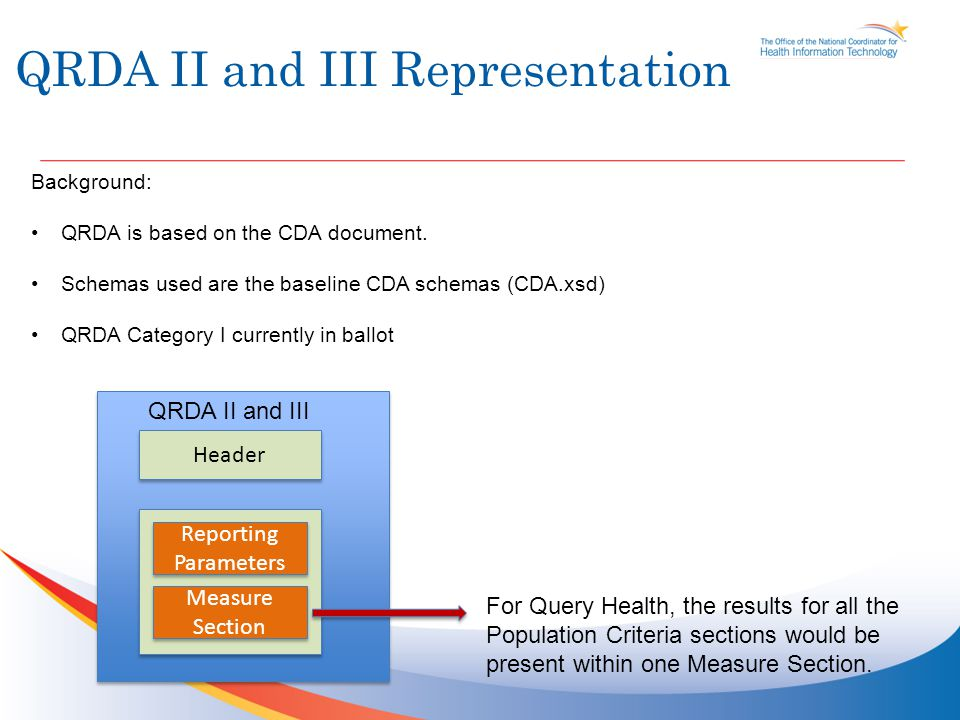 QRDA II and III Representation