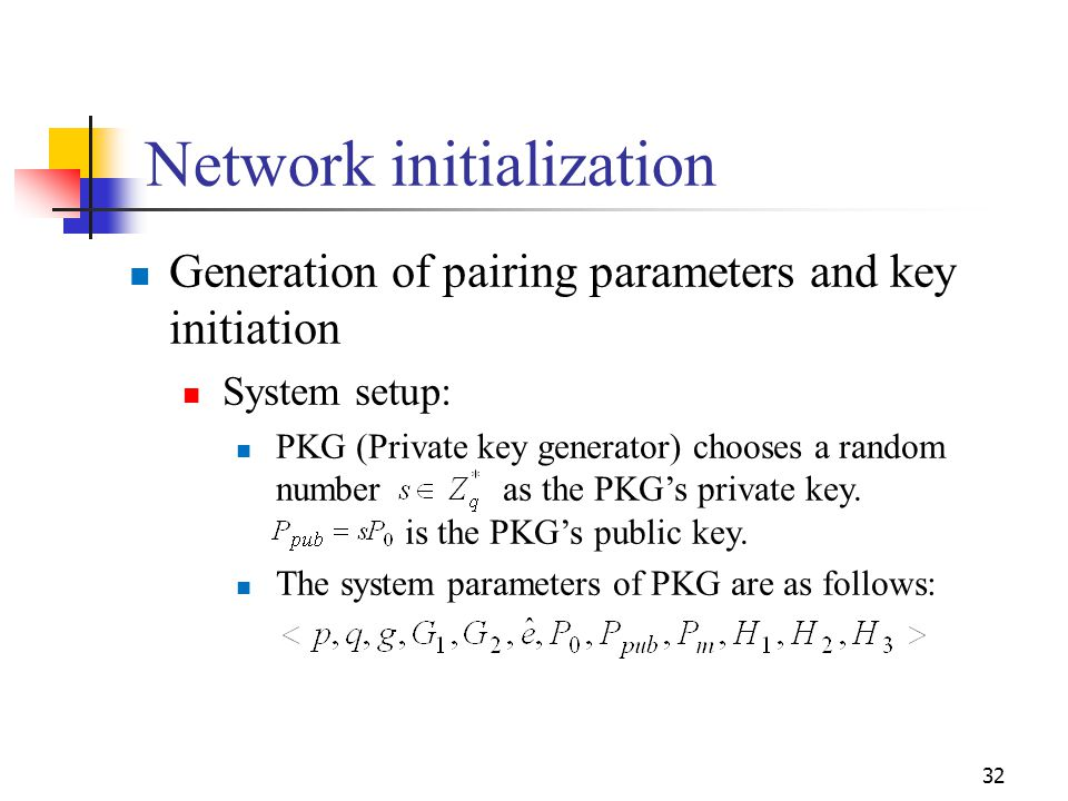 Network initialization