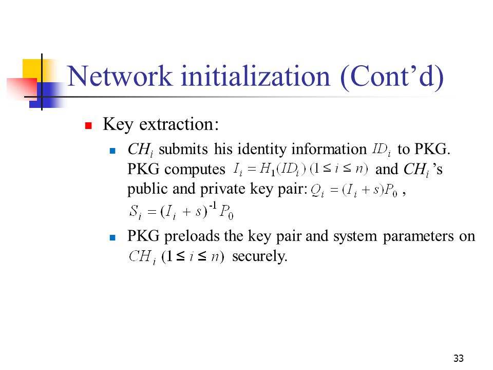 Network initialization (Cont'd)