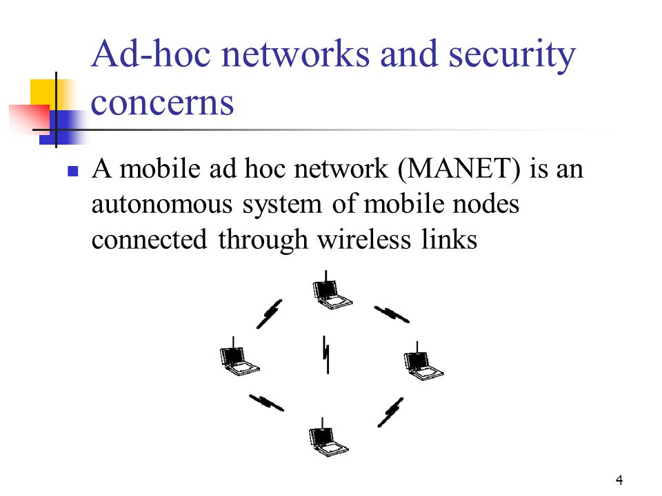 Ad-hoc networks and security concerns