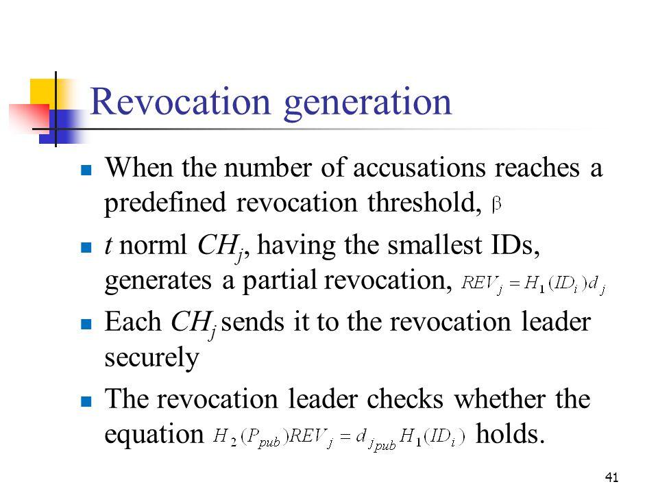Revocation generation