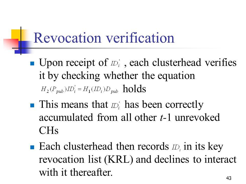 Revocation verification